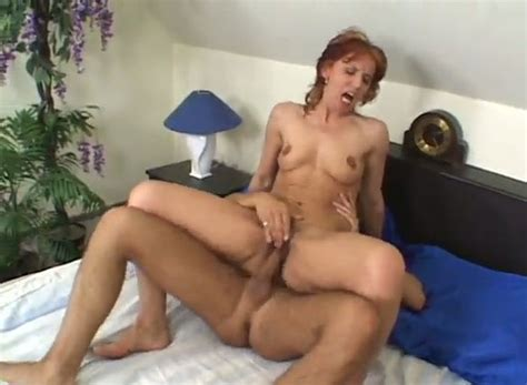 Cougar Red Haired Slut Gets Fucked By Young Raunchy Guy
