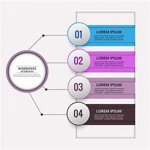 Colored Infographic Diagram Vector