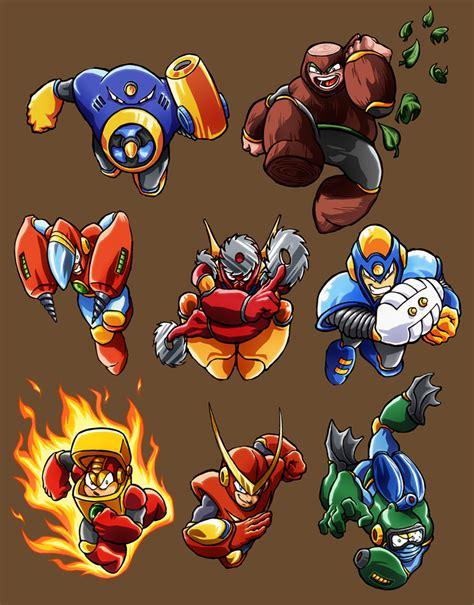 Mega Man 2 Robot Masters By Sebastianvonbuchwald On