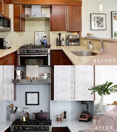 Kitchen Paper Marble Cabinets Cabinet Diy Makeover