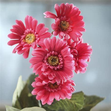 dark pink artificial gerbera daisy bush bushes