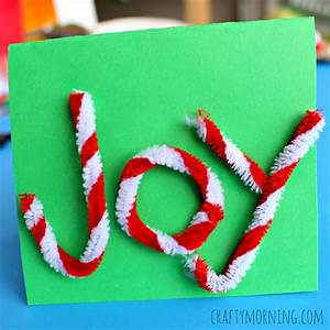 Simple Pipe Cleaner Christmas Card Idea Crafty Morning