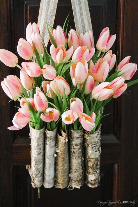 beautiful spring  easter wreath ideas  lots