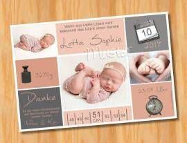 baby geburtskarten dankeskarten babykarten