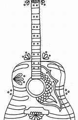 Guitar Coloring Pages Electric Bass Adult Printable Getcolorings sketch template