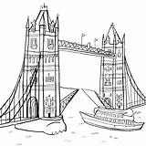 Bridge Tower Coloring London Buildings Colouring Clipart Architecture Printable Cosford Nina Drawing Drawings Adult Kb Ninacosford источник sketch template