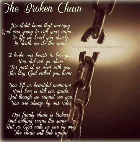 Broken Chain Poem Frame