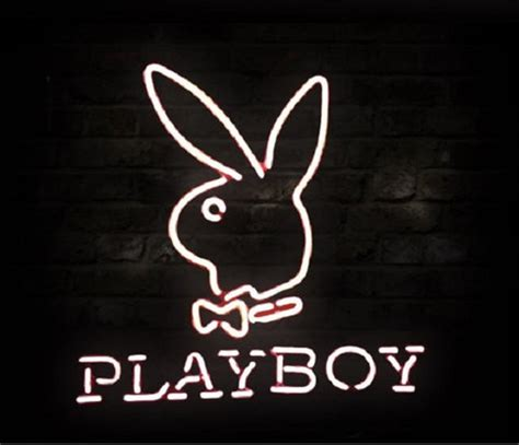 brand  playboy rabbit logo beer bar neon light sign