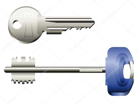 Two Metal Keys From Different Types Of Lockers