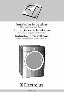 Electrolux Eifls55iiw0 User Manual Washer Manuals And