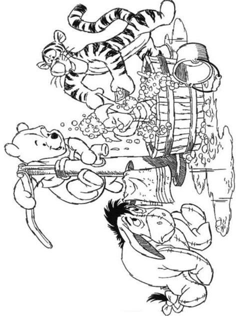 Kleurplaat Winnie The Pooh Baby by N Kleurplaat Winnie De Pooh Samen In Het Bad