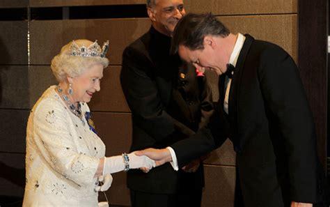 queen elizabeth ii accepts uk prime minister camerons