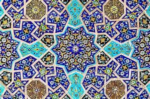 Multi, Colored, Islamic, Mosaic, Art, Stock, Photo