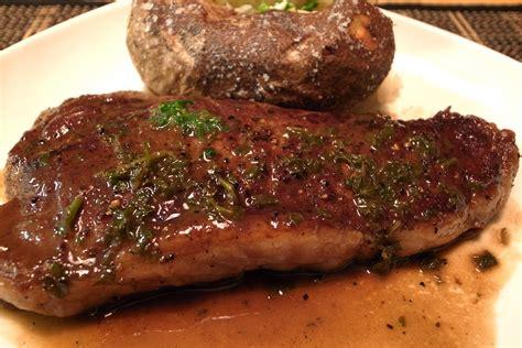 steak oven ny strip steak and baked potato 1 pat dry steak season w flickr