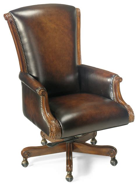 seven seas distressed brown leather swivel
