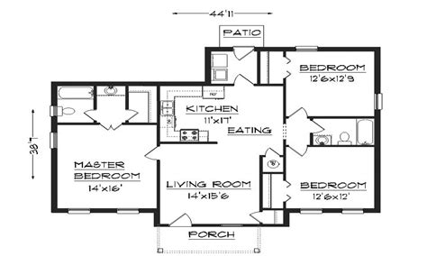 1 Bedroom House Plans Simple House Plans basic house