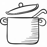 Pot Icon Spoon Svg Crock Cook Icons Others Flaticon sketch template