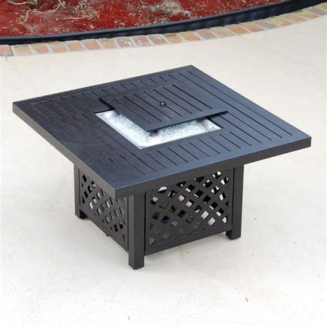 42 inch cast aluminum patio pit table modern