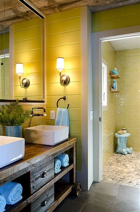 cheerful yellow bathroom decor ideas yellow bathroom