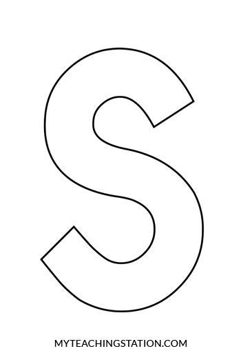 letter s craft snake myteachingstation 589   Uppercase Letter S Template for Crafts