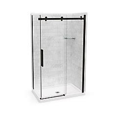 32 Inch Shower Door - maax utile 48 inch x 32 inch x 84 inch marble carrara