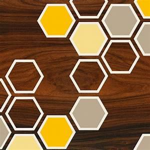yellow honeycomb pattern geometric art print - jefdesigns  Honeycomb