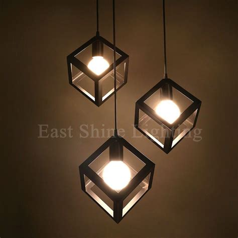 modern geometry box pendant lights for home pendant