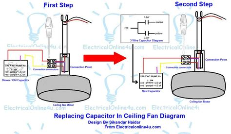 ceiling fan capacitor wiring diagram fan capacitor wiring diagram 35 wiring diagram
