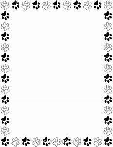 Black and White Paw Print Border | davia | Pinterest ...