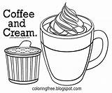 Drawing Coffee Coloring Pages Drink Printable Chocolate Cream Hard Clipart Beverage Getdrawings Bean Cute Juice Easy American Maintain Afternoon Output sketch template