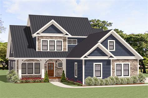 traditional house plan   story family room