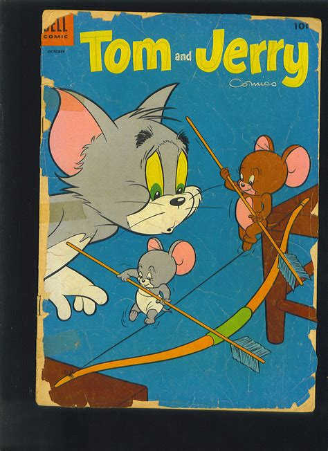 Tom And Jerry Dell Comics Oct 1954 Issue 123 Comic Book