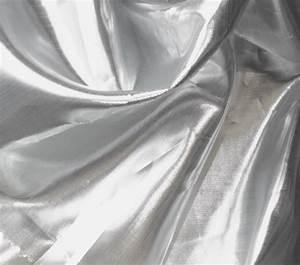 Metallic Fabric- Shiny Tissue Lame Silver & White | Jo-Ann