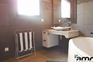 amenagement salle de bains sur mesure pour personne With meuble salle de bain handicapé