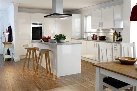 White Kitchen Ideas For Small Kitchens - wren kitchens autograph white gloss