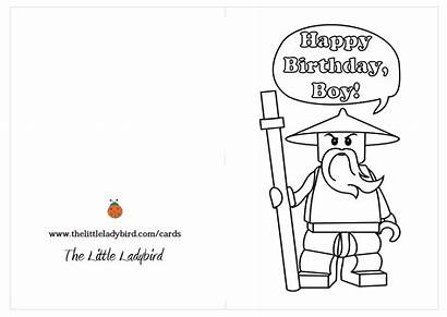 Birthday Cards Coloring Happy Pages Wars Printable