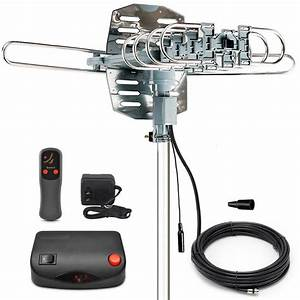 Amplified Digital Hdtv Outdoor Antenna With Motorized 360