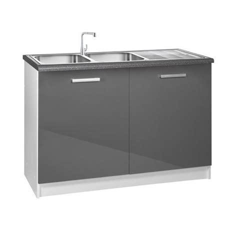 meuble cuisine sous evier meuble cuisine bas 120 cm sous évier tara achat vente