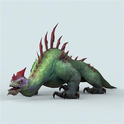 Fantasy Monster Lizard by treeworld3d | 3DOcean