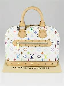 louis vuitton white monogram multicolore alma bag yoogi