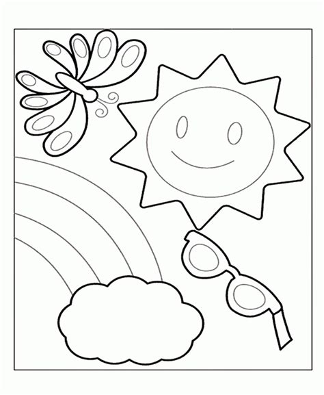 free preschool summer coloring pages coloring home 734 | RTdRGkgAc
