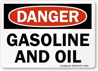 Gasoline Oil Danger Osha Signs Warning Pdf