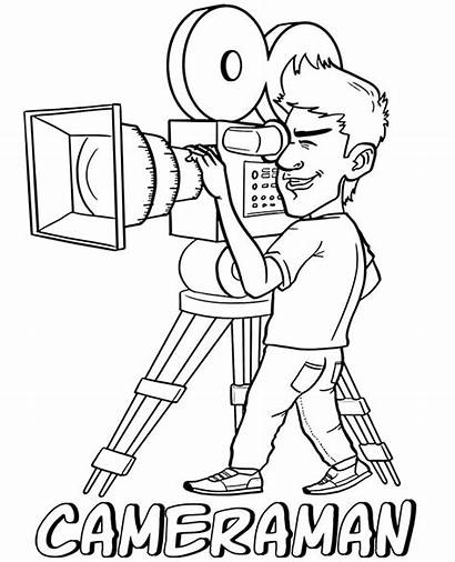 Coloring Pages Cameraman Topcoloringpages Sheet Professions