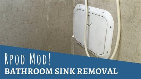 rpod  modification bathroom sink removal youtube