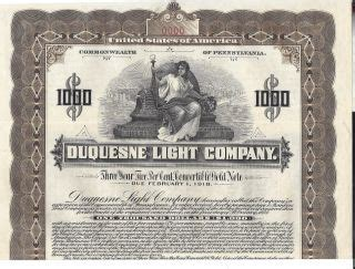 duquesne light company stocks bonds scripophily other price and value guide
