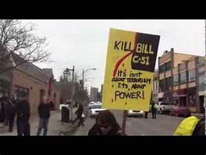 London, Ontario Protest Against Bill C-51 - YouTube