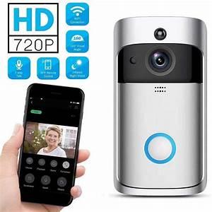 Wireless Smart Doorbell Wifi Video Doorbell 720p Hd