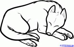 How to Draw Sleeping Dog Drawing