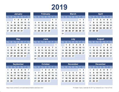calendar template full year printable full year calendar 2019 2019 calendar templates