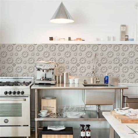 flower kitchen walls backsplash wallpaper  lime lace